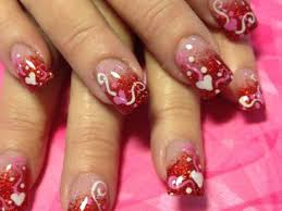 18 Cute Valentines Day Acrylic Nail Designs Related Nails