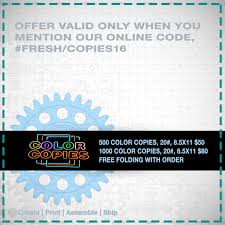 Print Online Color Coupon