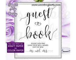 Wedding Guest Book SignWedding Reception Sign021w
