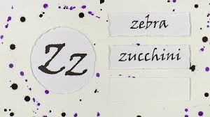 English Alphabet The Letter Z Examples Of Words Stock Video