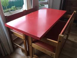100 Red Formica Table And Chairs 196070s Red Formica Table With Chairs And Bench In New Cross