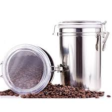 Coffee Canister Airtight Storage Container Vacuum Sealed Milk Powder Tin Stainless Steel Food For Beans Sugar Tea Spice Flour 43oz