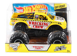Amazon.com: Hot Wheels Monster Jam Wrecking Crew Die-Cast Vehicle, 1 ... Hot Wheels Custom Motors Power Set Baja Truck Amazoncouk Toys Monster Jam Shark Shop Cars Trucks Race Buy Nitro Hornet 1st Editions 2013 With Extraordinary Youtube Feature The Toy Museum Superman Batmobile Videos For Kids Hot Wheels Monster Jam Exquisit 1 24 1991 Mattel Bigfoot Champions Fat Tracks Mutt Rottweiler 124 New Games Toysrus Amazoncom Grave Digger Rev Tredz Hot_wheels_party_gamejpg