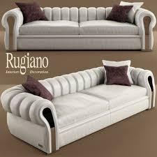 Pomorie White Faux Leather Sectional Sofa Set