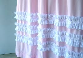 Pink Sheer Curtains Target by Bathroom Awesome White Ruffle Shower Curtain For Excellent