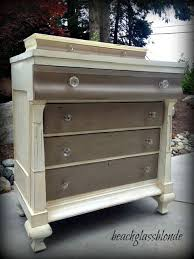 Annie Sloan Coco And Old White Maybe Stain The Top A Walnut Color Or Dark Oak Shade