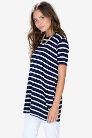 women u0027s tees stripe boyfriend tunic tee stripe boyfriend tunic