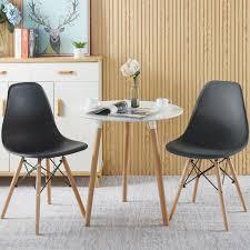 esszimmerstühle im 2er set metallrahmen lounge kunststoff stuhl für esszimmer küche büro lounge konferenzzimmer schwarz
