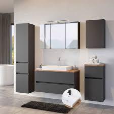 badezimmer set komplett inkl keramik aufsatzbecken pesaro 03 in matt