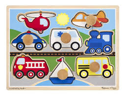 melissaanddoug vehicles jumbo knob puzzle toys play puzzles