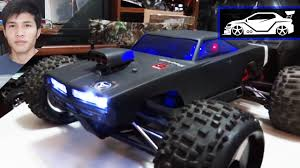 100 Revo Rc Truck RC Modify 2 HPI Dodge Charger Body On Traxxas EREVO YouTube