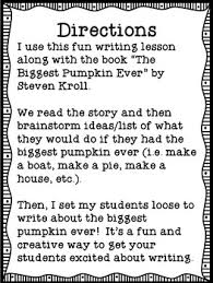 The Biggest Pumpkin Ever By Steven Kroll by The Biggest Pumpkin Ever Fall Writing Freebie By Laura Berry Tpt