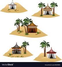 100 Desert Nomad House Camp In Desert Set Elements To Design
