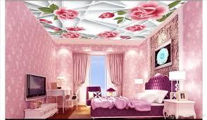 großhandel 3d wallpaper custom photo 3d decke wandbild tapete frame pink zenith wandmalerei 3d wand wohnzimmer wandbilder tapete wohnkultur