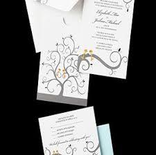 White Blue Love Birds Wedding Invitations