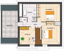 plan maison 4 chambres etage construction maison neuve orchidée lamotte maisons individuelles