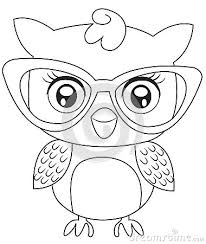 Girl Owl Coloring Page
