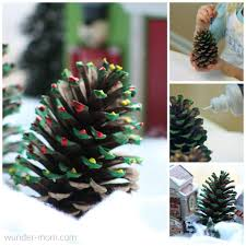 Silvertip Christmas Tree by Painted Pine Cone Christmas Tree