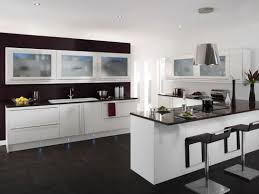 Colorful Kitchens Black Kitchen Design Gray Countertops Off White Cabinets With Dark Floors