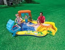 4 Of 5 Kids Inflatable Pool Water Slide Play Center Backyard Outdoor Swimming Fun Intex
