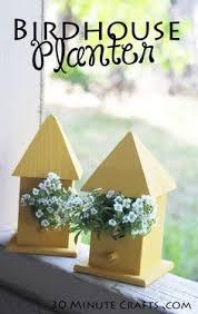 Simple To Make Birdhouse Planter