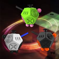 Side Fidget Cube Toy 12 Sided Spinner Magic Cobe In Stress Anxiety Attention Relief Puzzle Adult Kids From Toys Hobbies On