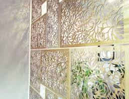 create your own wood and acrylic room divider screen