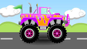 Pink Monster Truck #4 - Monster Trucks For Kids - YouTube