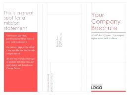 Tri Fold Brochure Template Free Microsoft Word 2010 For Pamphlet