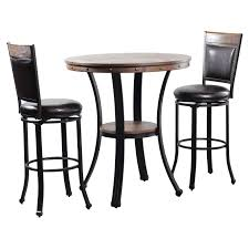 Powell Franklin 3 Piece Pub Table Set, Dark Brown