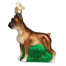 Amazoncom Old World Christmas Ornaments Boxer Dog Glass Blown