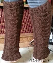 cozy u0027 cable leg warmers knit pattern u2013 rainbow warrior