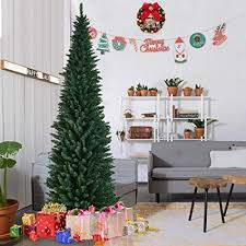 Comely 9ft Pencil Christmas Tree 2 Ramdom2 Amazon Com Goplus 8ft PVC Artificial Slim