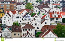 100 Houses In Norway Stavanger Stock Image Image Of Quarter
