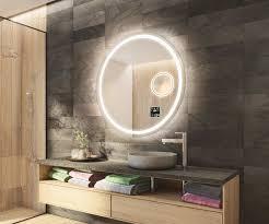 runder badspiegel mit led beleuchtung l33
