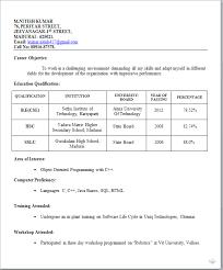 Model Resume For Job