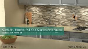 Kohler Elliston Faucet Chrome by Installation U2013 Elliston Pull Out Kitchen Sink Faucet Youtube
