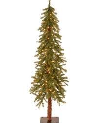 Pre Lit Hickory Cedar Artifical Christmas Tree Green