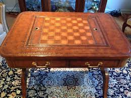Maitland Smith Map Desk by Maitland Smith English Regency Burl Walnut Pedestal Game Table