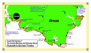 Devon Coast Path Map South West Walking UK Price Guide