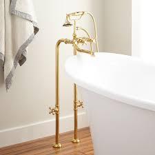 Polished Brass Bathroom Faucets Contemporary by Contemporary Freestanding Tub Faucet Supplies U0026 Valves Cross