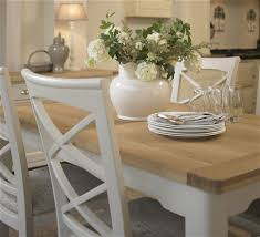 Cottage Oak And Painted Small Extending Dining Table