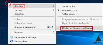 raccourci afficher bureau où sont passées mes icônes sur le bureau windowsfacile fr