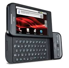 HTC manufactured a slide out QWERTY keyboard touchscreen