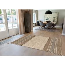 arte espina teppich 100 wolle kilim fransen wohnzimmer beige creme 60x90cm