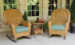Sea Pines 3pc Rocker Set - Mojave Wicker Resin Wicker Porch Rockers Easy Care Rocker Charleston Rocking Chair Camel Back Chairs Set Of Two White Summer Outdoor Belwood With Floral Cushions 3pc Cushion And End Table Faux Book Pocket Coral Coast With Khaki The Portside Plantation All Weather Tortuga