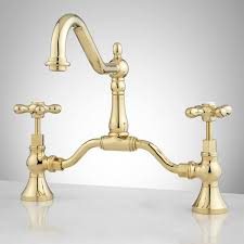 Polished Brass Bathroom Faucets Contemporary by Elnora Bridge Bathroom Faucet Cross Handles Bathroom Sink