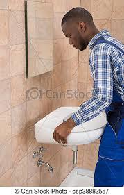 reparieren badezimmer mann klempner sinken badezimmer