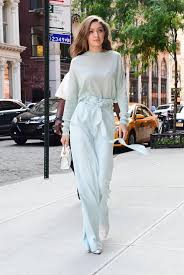 In June 2017 Gigi Pulled Off Yet Another Monochrome Outfit With This Sally LaPointe Set