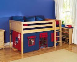 Toddler Bed For Boy Blue Blanket Spiderman Quil Gray Floor Natural